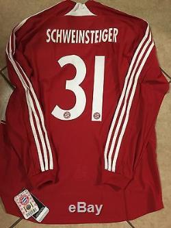 Germany bayern Munich Formotion Player Issue XL Schweinsteiger Trikot jersey