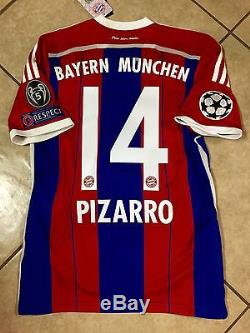 Germany bayern Munich Pizarro Peru Soccer S, M, L, XL, jersey Adidas football shirt