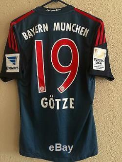 Germany bayern Munich Player Issue Formotion Match UnWorn Gotze Shirt jersey
