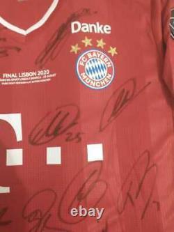 Jersey Bayern Munich Final Champions League 19/20 #29 Coman Signed by Players