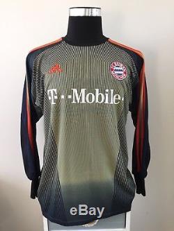 KAHN #1 Bayern Munich Goalkeeper Football Shirt Jersey 2003/04 (M)