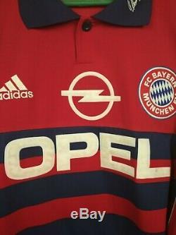 Kahn Bayern Munich Jersey S Goalkeeper Long Sleeve Adidas Football Soccer