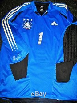 Kahn Germany FRIENDLY MATCH WORN Jersey Spielertrikot Deutschland Bayern Munich