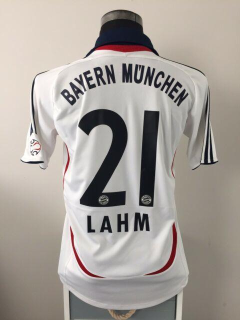 Lahm #21 Bayern Munich Away Football Shirt Jersey 2007/08 (s)