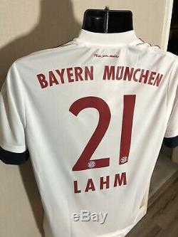 LAHM #21 Bayern Munich Away Medium Football Shirt Jersey 2015/16 BNWT