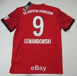LEWANDOWSKI #9 BAYERN MUNICH home shirt jersey ADIDAS 2018-2019 adult SIZE M