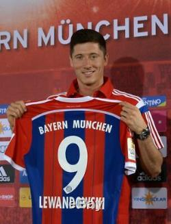LEWANDOWSKI #9 Bayern Munich 2014-15 home shirt Adidas M trikot München jersey