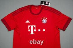 LEWANDOWSKI Bayern Munich 2015-2016 XL Home Football Shirt Jersey Triko BNWT NEW