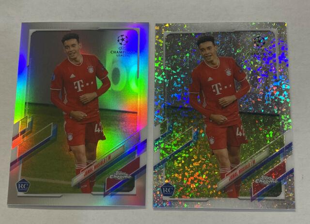 (lot Of 2) 2020-21 Topps Chrome Uefa #81 Jamal Musiala Rc Refractor + Speckle