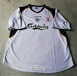 Liverpool 2001 UEFA Super Cup Final v Bayern Munich Jersey XL (Rare & Mint Cond)