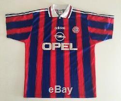 MATTHAUS Bayern Munich 1995/97 Home Football Shirt M Soccer Jersey ADIDAS Maglia