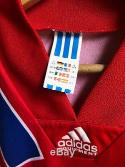 MINT Vintage Bayern Munich Football Shirt 1991-93 Adidas Jersey Trikot Retro S