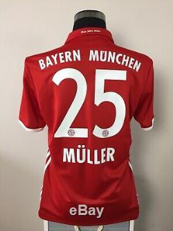 MULLER #25 Bayern Munich Home Football Shirt Jersey 2016/17 (M)
