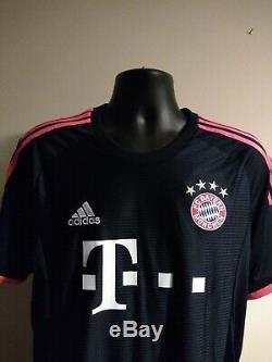 MULLER #25 Bayern Munich Third Football Shirt Jersey 2015/16 (L) BNWT