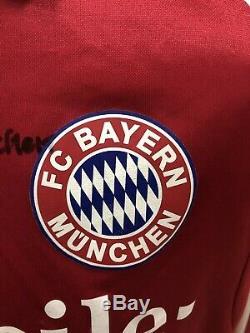 Maglia Calcio Bayern Munchen 03/04 Signed Match Worn Shirt Trikot Jersey Maillot