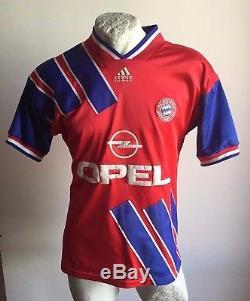 Maglia Calcio Bayern Munich Munchen 1993 Adidas 11# Trikot Matchworn Jersey
