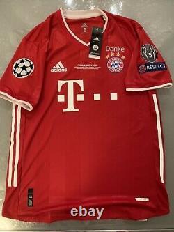 Maglia Jersey Fc Bayern Munchen Match Worn Player Issue Lewandoski CL Final 2020