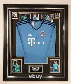 Maneul Neuer of BAYERN MUNICH Signed SHIRT Autograph Jersey Display