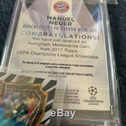 Manuel Neuer Autograph Topps Soccer Card 2017 FC Bayern Munchen English Jersey
