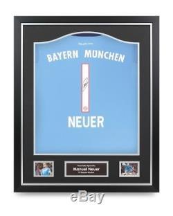 Manuel Neuer Signed Shirt Bayern Munich Framed Autograph #1 Jersey Memorabilia