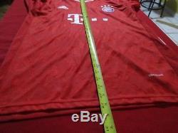 Mario Gotze #19 Fc Bayern Munich Adidas Long Sleeve Jersey Size L Football