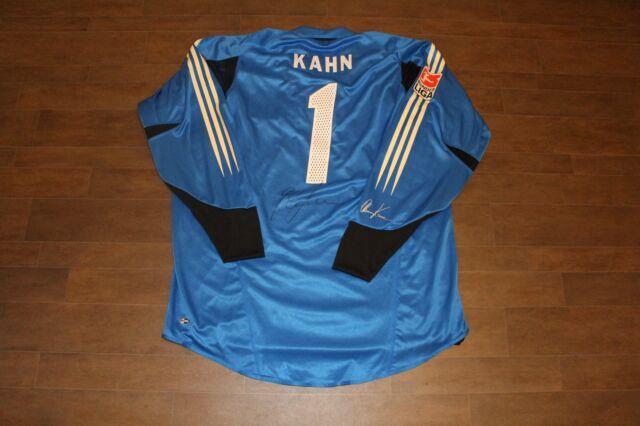 Match Worn &signed Khan #1 2004/2005 Official Bayern Munich Home Soccer Jersey