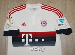 Match worn shirt jersey Bayern Munich Germany 15-16 camiseta Brazil Juventus