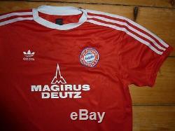Medium 1980 BAYERN MUNICH FOOTBALL Soccer JERSEY trikot SOCCER JERSEY Munchen