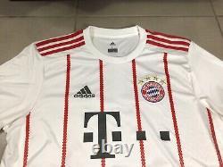 Mens 2018 Adidas Bayern Munich T. MULLER #25 Sz L Third football shirt jersey