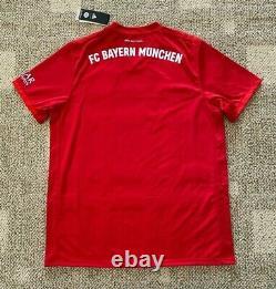 Mens FC Bayern Munich Home Soccer Jersey True Red Size 2XL Climalite