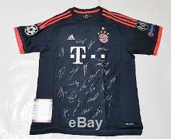 NEW CHAMP 2016 Bundes Liga Bayern Munich Munchen FC Signed 3rd Shirt Jersey+COA