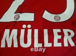 NWT Adidas 15/16 Bayern Munich #25 Muller Authentic AdiZero Red Home Jersey (L)