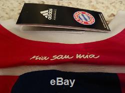 NWT Adidas 2014/15 Bayern Munich Authentic AdiZero Red/Blue Home Jersey (Men XL)