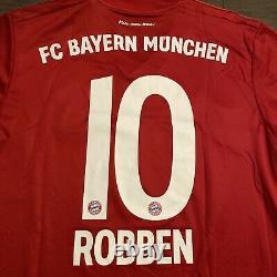 NWT Adidas Bayern Munich 2019/20 Mens Jersey Red Home Robben #10 Muller Ribery