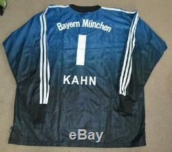 NWT Oliver Kahn Bayern Munich Goalkeeper Goalie Jersey 2XL Padded Elbows adidas