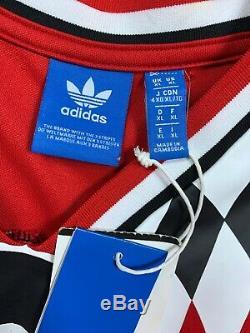 NWT'S Adidas FC Bayern München Soccer Jersey Men's SZ XL Blank Red Rare
