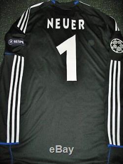 Neuer Schalke 04 2010 2011 MATCH WORN Jersey Shirt Bayern Munchen Spielertrikot