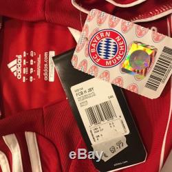 New 2007/08 Bayern Munich Home Jersey #21 Lahm Adidas Medium Vintage BNWT