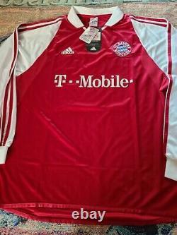 New Adidas Michael Ballack Bayern Munich Germany Jersey Shirt Maglia Trikot