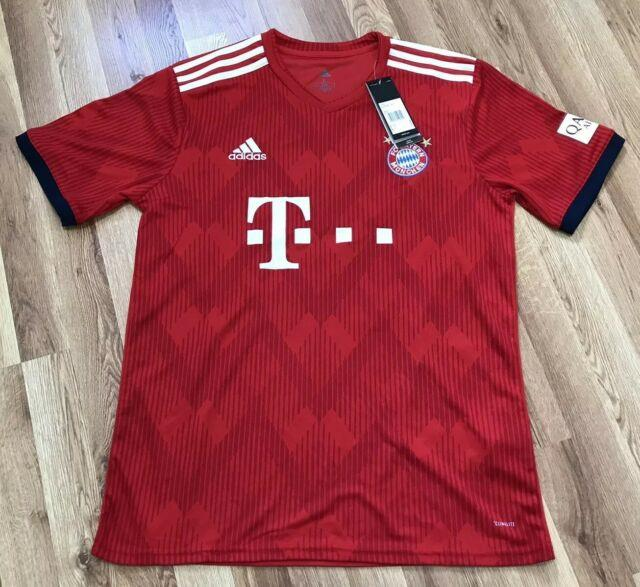 New Men's Adidas Fc Bayern Munich Thomas Muller 2018-19 Soccer Jersey Sz Large