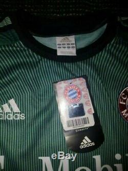 Oliver Kahn Bayern Munich Munchen 2003 2004 UEFA GK Jersey Trikot Shirt BNWT L