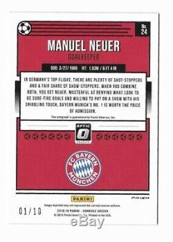 Panini Donruss Manuel Neuer Bayern Blue Optic Jersey # Auto 01/10