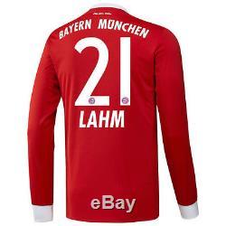 Philipp Lahm Bayern Munich adidas 2017/18 Home Replica Long Sleeve Jersey