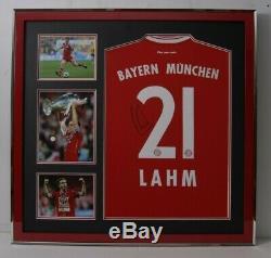 Philipp Lahm Signed & FRAMED Bayern MUNICH JERSEY AFTAL COA (A)
