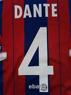 Player Issue Bayern Munchen #4 Dante 2014/2015 8 Adidas Shirt Jersey Trikot