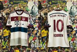 RARE Adidas Bayern Munich Away Soccer Football Jersey 2014 2015 Arjen Robben