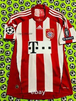 RARE Adidas Bayern Munich Home Soccer Football Jersey Final 2010 Arjen Robben