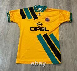 RARE Vintage 90s FC Bayern Munich Opel Adidas Mens Small Soccer Jersey