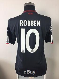 ROBBEN #10 Bayern Munich CL Away Football Shirt Jersey 2015/16 (M)