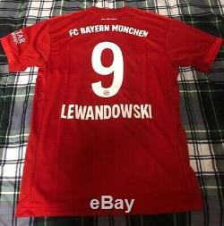 ROBERT LEWANDOWSKI BAYERN MUNICH 19/20 HOME JERSEY Size Large New With Tags